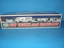 2003 COLLECTIBLE HESS TOY TRUCK AND RACECARS-ORIGINAL BOX