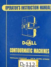 Doall 26 3 60 3 Contourmatic Operations And Maintenance Manual