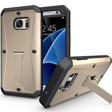 Gold Case With Screen Protector Hard Hybrid Armor Cover for Samsung Galaxy S7