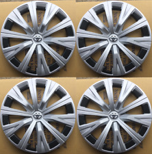 4X Hub Caps Fits  2007-2020 Toyota Camry  Wheel Covers Black Silver SET OF 4