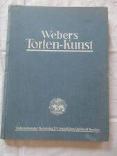 Webers Torten- Kunst Vorlagen Album in 40 Tafeln 6 sprachig um 1930