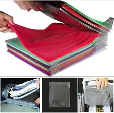 10Pcs Clothes T-Shirt Folder Magic Folding Board Flip Fold Laundry Organizer
