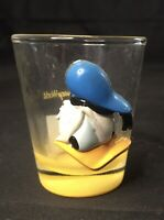 Disney Parks Donald Duck Shot Glass 3d Vintage Collectable Angry Donald Rare