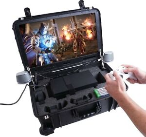 """Case Club Xbox Series X/S Portable Gaming Station with Built-in 24"""" 1080p"""