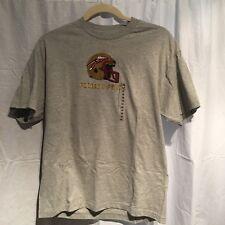 FLORIDA STATE Mens T-Shirt (SEMINOLES HELMET IMAGE) Gray NCAA TCX Apparel SZ XL
