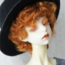 8-9'' 1/3 BJD SD Doll Wig DZ DOD LUTS Short Tight Curly Wavy Orange Boy Hair Wig