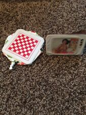 Barbie Doll Accessory Vintage 1970's INFLATABLE FURNITURE TELEVISION And Checker