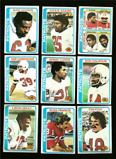 1978 Topps New England Patriots Football Card Team Set (24) Morgan Francis