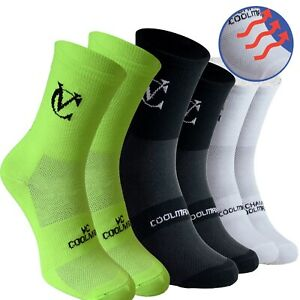 Coolmax Breathable Cycling Socks 3pack Mountain Bike Road Running Socks