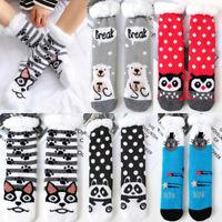 Winter Animal Floor Slipper Socks Soft Warm Long Fluffy Fleece Lined Hosiery-RO