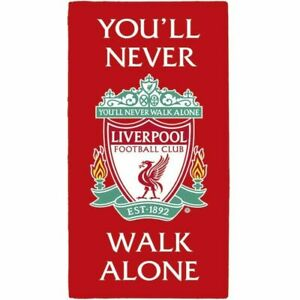 Liverpool FC Towel Youll Never Walk Alone and Crest 100% Cotton LFC
