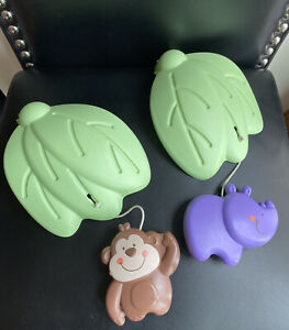 Fisher Price Luv U Zoo Jumperoo Hanging Hippo & Monkey Leaf Toy Replacement Part