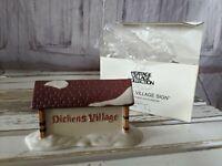 Vtg Dept 56 65692 Heritage Village Collection Dickens Village Sign Porcelain NEW