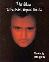 PHIL COLLINS 1985 NO JACKET REQUIRED TOUR CONCERT PROGRAM BOOK-GENESIS-EXC 2 NMT