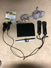 Nintendo Wii w/ Wii Sports Black 32gb Console Model RVL-001 Gamecube Compatible