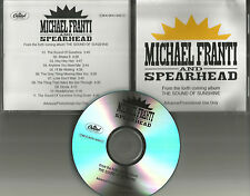 MICHAEL FRANTI AND SPEARHEAD Sound of Sunshine ADVNCE TST PRESS PROMO CD 2010