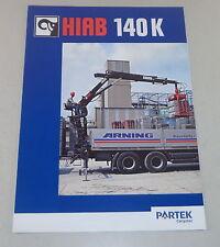 Prospekt / Broschüre Hiab Baustoffkran 140 K Stand 09/2000