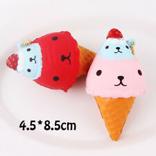 Squishy Bear Slow Rising Ice Cream Charm For iPhone Samsung Phone Strap