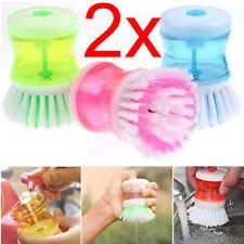 2 x Jabón de cocina de dispensación Lavavajillas Cepillo de limpieza de Lavado Lavado Hasta Pad