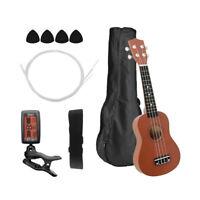 21 Inch Colored Acoustic Soprano Ukulele Ukelele Uke Kit Basswood with S9F6