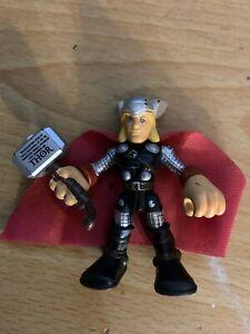 Playskool Marvel Super Hero Adventures Thor Hammer Inscription Asgard Mighty