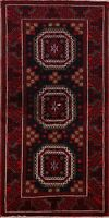 Nomad Geometric Oriental Balouch Afghan Area Rug Hand-Knotted Tribal 3x6 Carpet