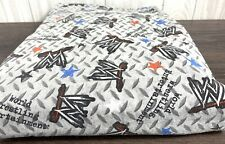 WWE WWF Twin Flat Fitted Bed Sheet Wrestling Craft Fabric Ring Vintage Boys Kid