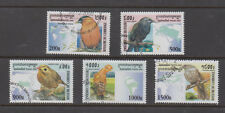 Cambodia Stamps 2000 Birds 5 value set, used, CTO