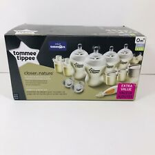 Tommee Tippee Closer to Nature Newborn Baby Bottle Feeding Starter Set New NIB