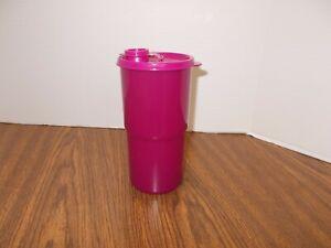 2414 Tupperware Thirstquake Tumbler 30oz  with Flip Top Lid Fuschia - Pink NEW