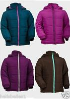 GIRLS ELFIN DOLLS WINTER SCHOOL PADDED PUFFA COAT JACKET HOODED 4-13 YEARS