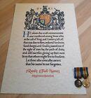 Great War WWI MEMORIAL SCROLL PERSONALISED Certificate Reproduction