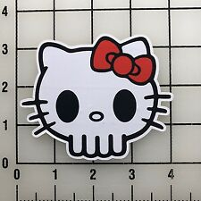 "Hello Kitty Skull 4"" Wide Color Vinyl Decal Sticker BOGO"