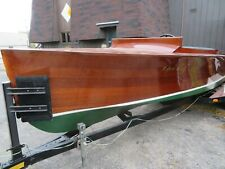 1929 ~ Chris Craft Triple Cockpit ~ Antique Wood Power Boat ~ Mahogany Chrysler