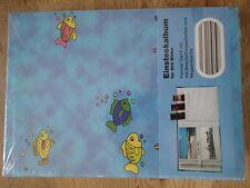 NEU OVP Einsteckalbum für 200 Fotos je 10x15xm Fische blau Kinder Foto Album
