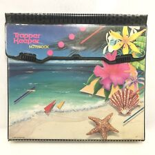 Vtg 80s Mead 3 Ring Binder TRAPPER KEEPER NOTEBOOK Beach Tropical Flowers Hawaii
