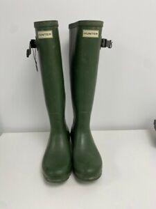 Hunter Green Wellington Boots Wellies Unisex Size UK 6 EU-39 #819