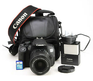 Canon EOS 700D DSLR Camera + EF-S 18-55mm IS STM Lens Kit - 6,111 Shots - EXC
