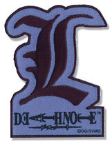 "Death Note: L Letter Patch 3"" x 2"" Licensed by GE Animation Anime Patches new"