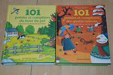 lot 2 livres 101 poésies et comptines du bout des prés / des 4 saisons - Bayard