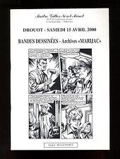 Catalogue Sale Comics Auction Neret Minet 15/04/2000 Archives Marijac