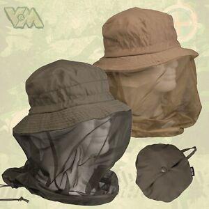 Hut mit Moskitonetz Kopfnetz Insektenschutz Hutnetz Jagd Angeln Fliegennetz NEU