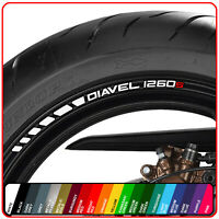 DUCATI DIAVEL 1260 s Wheel rim Stickers Decals - choice of 20 colours - Carbon