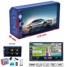 "7"" 2Din Car GPS Navigation MP5 MP3 Radio Player Bluetooth RDS+North American Map"
