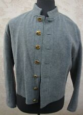 Waterbury CSA Civil War Confederate Soldier Grey Uniform Coat reenactor 44 Large