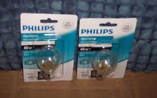 2 NEW PHILIPS 40 W S11 APPLIANCE LIGHT BULB W/ INTERMEDIATE BASE 120 VOLT
