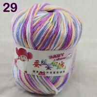 Sale 1ballx50g Soft Baby Cashmere Silk Wool Hand Knit Children Sweaters Yarn 29