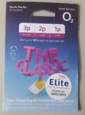 Official O2 PAYG Sim Card With £20 Credit Included.For National & International