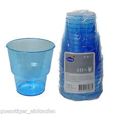 10 Duni Kunststoffbecher Gläser 250ml blau Bierpong Oktoberfest Wiesn Beerpong