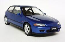 Triple9 1/18 Scale - Honda Civic VTi Hatchback 1993 Blue EG6 Resin Model Car